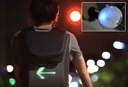 Irányjelző LED hátizsák bringásoknak - gepsegszalon.hu