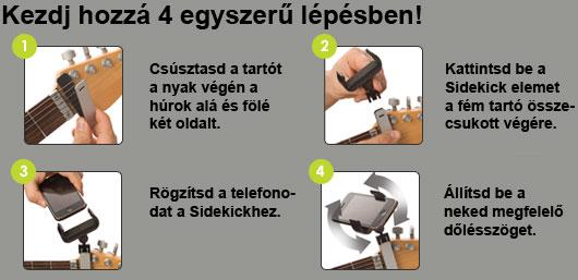 Guitar Sidekick - telefontartó gitárnyakra - 2 - gepsegszalon.hu