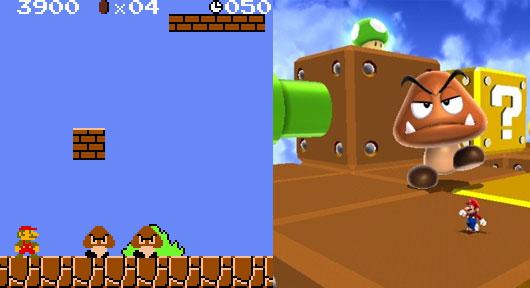 Mario akkor és most (Super Mario Bros. 1985-ből, és a 2010-es Super Mario Galaxy 2) - gepsegszalon.hu